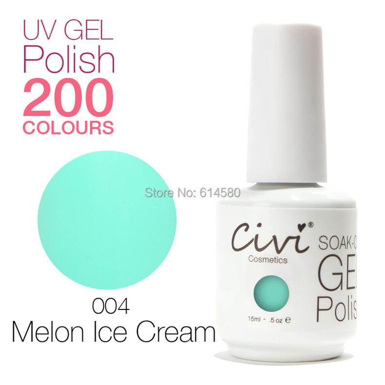 Civi 15ML #004 Melon Ice Cream Color UV Gel Nail Polish Cosmetics Art 200 Colors Choose - Ecomcase Store store