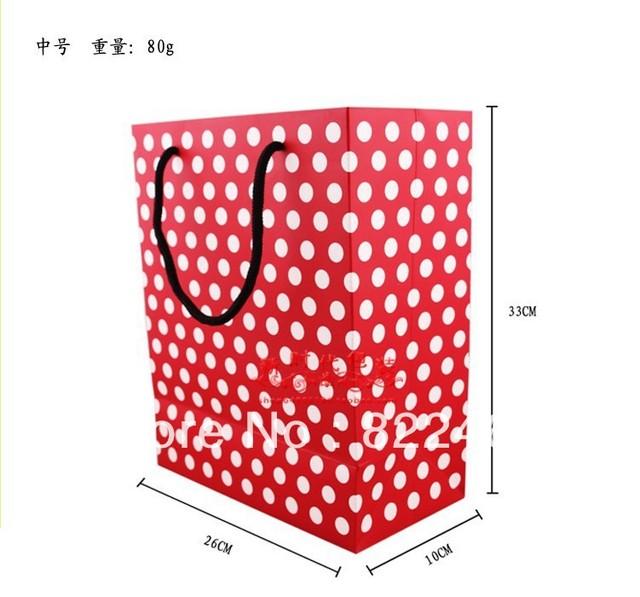 33*26*10CM The new han edition Bai Sebo point red bottom LiDai gift bag birthday gift bag back