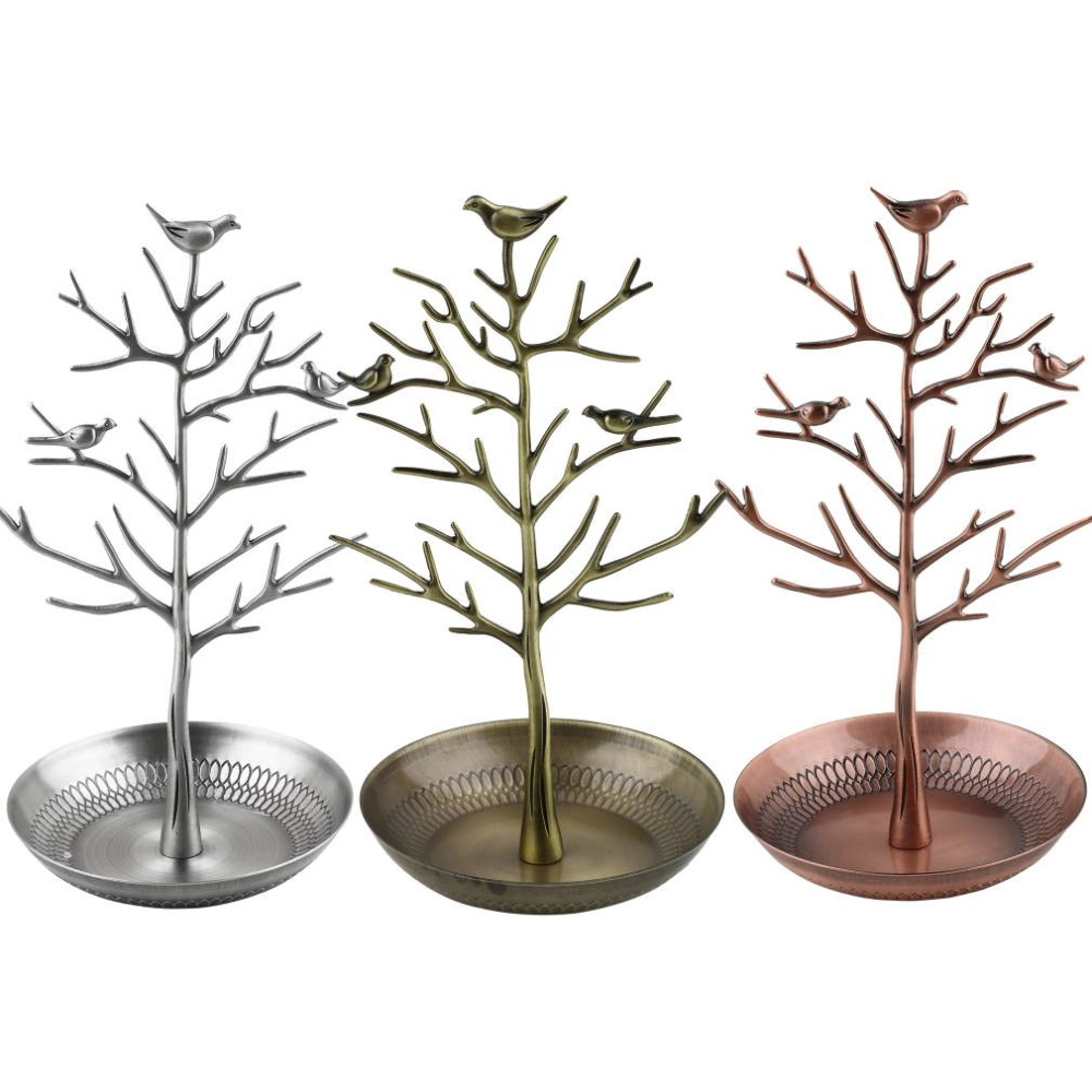 Retro Earring Ring Jewelry vintage Bird Tree Stand Display Organizer Holder Show Rack Jewelry Holder Ring Display Top Quality(China (Mainland))