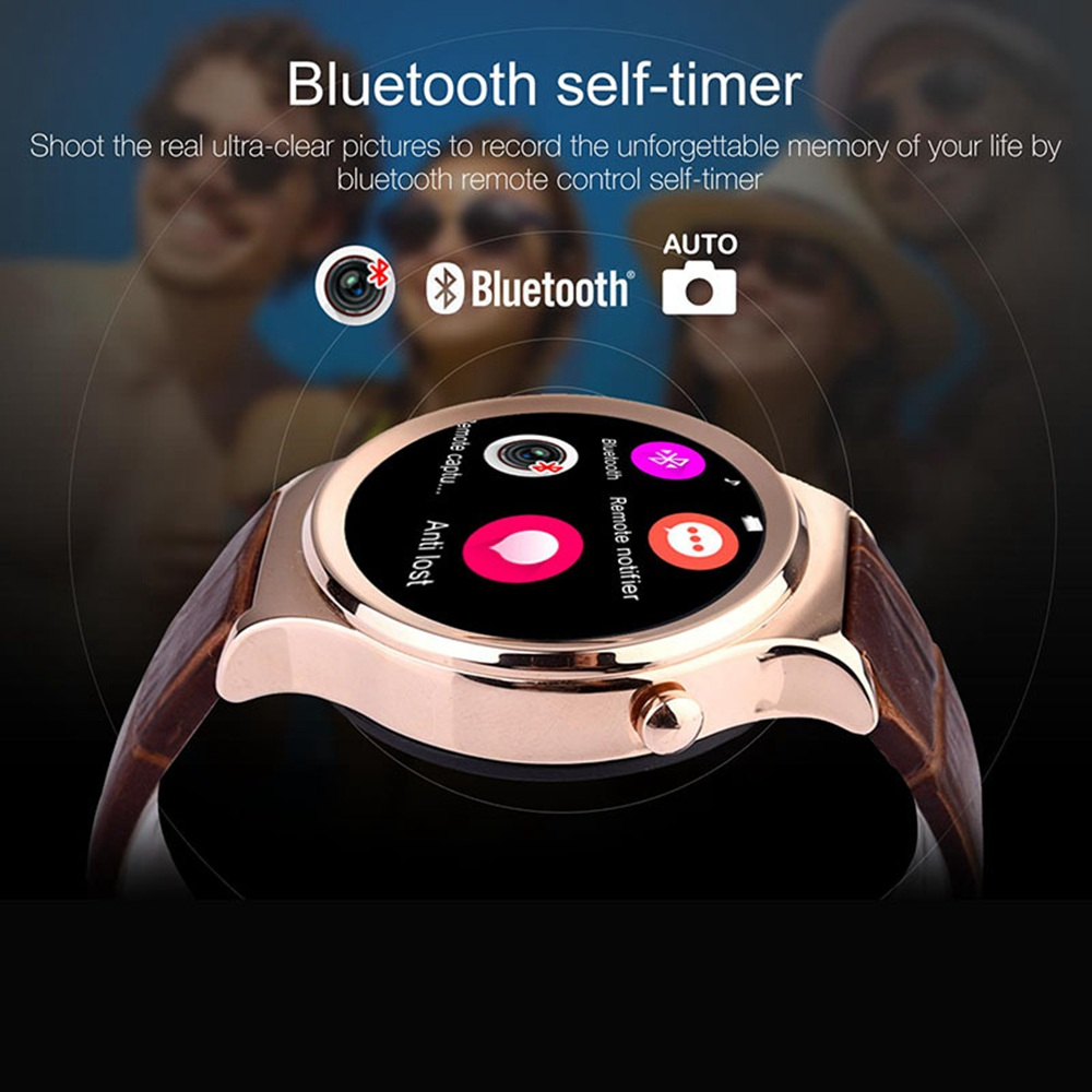 T3S Smartwatch Inteligente Reloj Bluetooth Wristwatch with SIM TF Fur Belt Card Heart Rate Sleep Monitoring