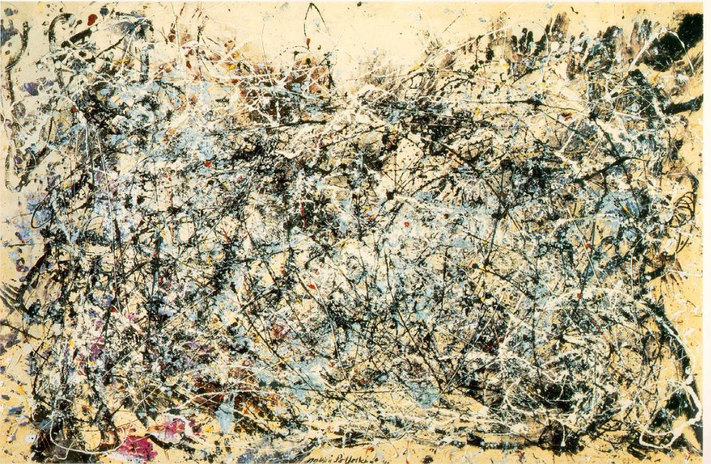 Oil Painting Reproduction,no-1-1948(1) by Jackson Pollock,Free Shipping,handmade ,top quality(China (Mainland))