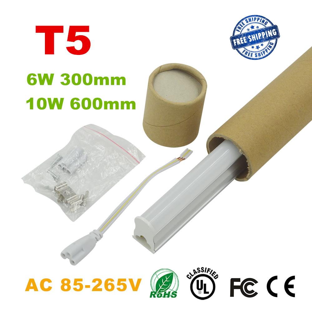 1pc/lot LED Bulbs Tubes 2ft Integrated Tube Light T5 600mm 10W Led Tubes AC85-265V G13 SMD2835 Lighting Tubes 1000lm(China (Mainland))