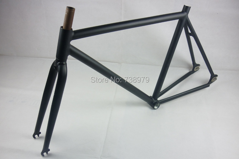 52cm Super Light cycling Track Bike Frame Frameset Road racing bicycle used alloy aluminum Fixie Fixed Gear Bicycle parts(China (Mainland))