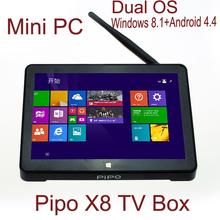 Neuankömmling Pipo x8 smart tv box Dual-Boot/os mini-pc windows 8,1/win10+android 4.4 intel z3736f Quad-Core 2g+32g bt Set-Top-Box(China (Mainland))