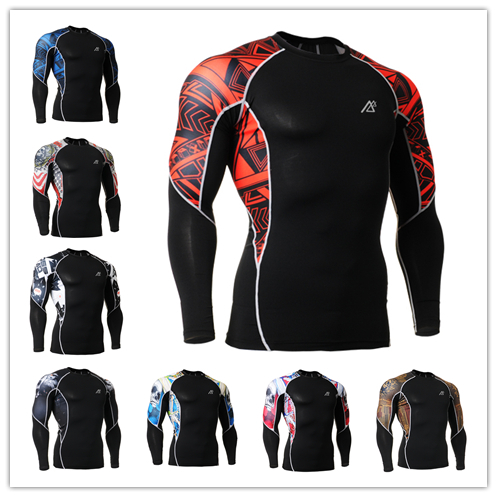 FIXGEAR life on track Bodybuilding and Fitness Men Clothing Set For Running Long Sleeve Compression T Shirts football jersey C2L(China (Mainland))