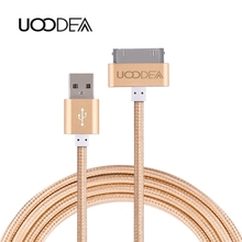 Buy UOODEA 30 Pin usb Cable iPhone 4 4s iPad 1 2 3 ipod 50cm 1m 2m Charger Cable Nylon Braided Charging Data Sync Cords USB Wire for $1.49 in AliExpress store