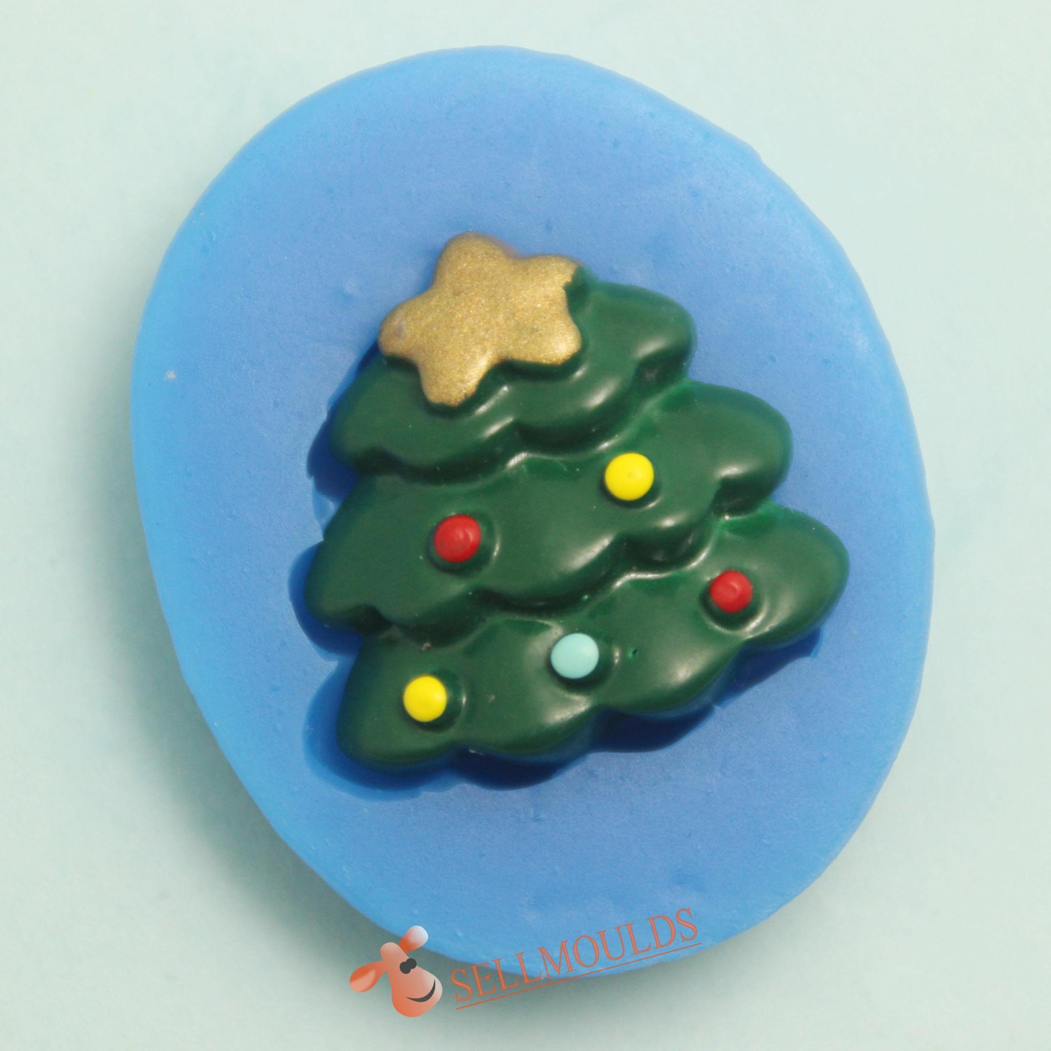 Christmas trees sugarcraft silicone molds cake