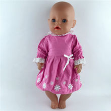 Модная одежда костюм подходит для 43 см куклы 17 дюймов одежда для детей Лучший подарок на день рождения(China)
