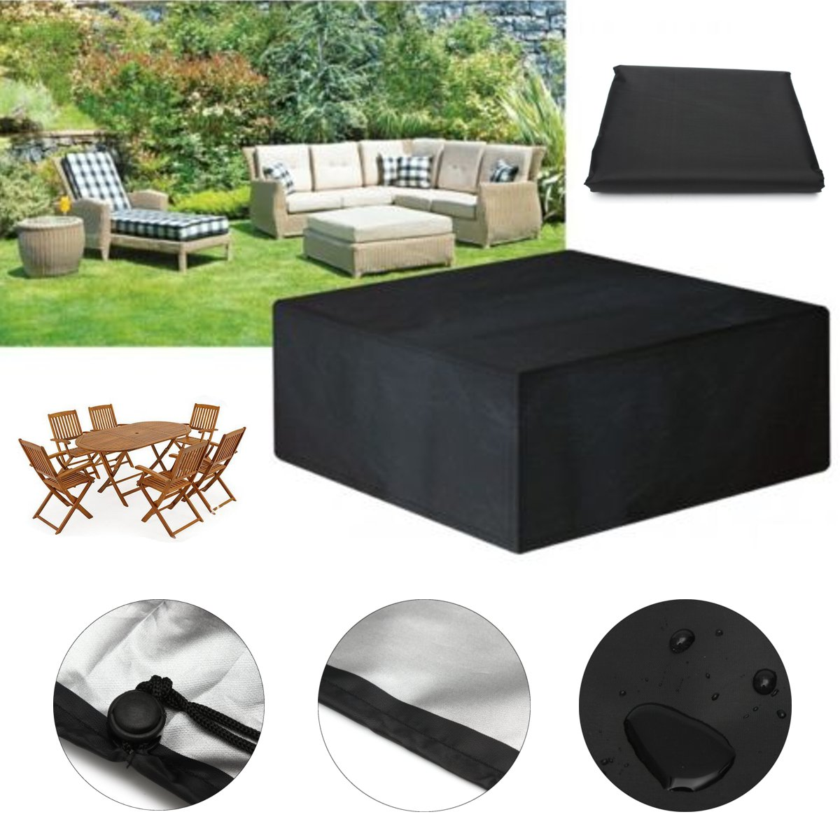 205X104X71cm Outdoor Patio Furniture Set Cover Garden Table Protective Cover Dustproof Table Cloth Home Textiles Waterproof(China (Mainland))