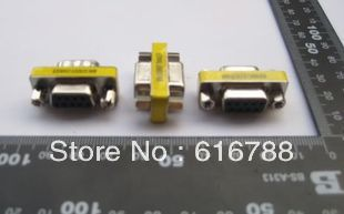 10pcs/lot High quality Serial adapter DB9 adapter FeMale to Female 9-Pin Serial Null Modem VGA Adapter Converter,free shipping(China (Mainland))