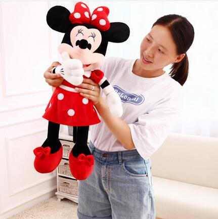 70cm 2016 new High Quality cute Mickey plush toys or Minnie doll for birthday gifts 1pcs(China (Mainland))