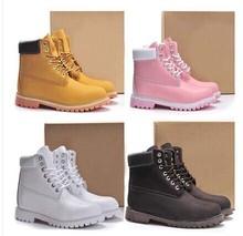 Invierno hombres mujeres impermeable botas exterior parejas marca cuero genuino de nieve caliente botas botas casuales Martin zapatos exterior(China (Mainland))