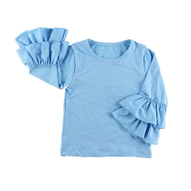 2016 New Real Minecraft Minion Wennikids Solid Cotton Sleeve Ruffle Top,girl T-shirt Children T Shirts Kid Tops Free Shipping  HTB1IE5wHVXXXXbDXVXXq6xXFXXXJ