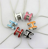 TItanium Steel H18k gold plated brand long statement necklace pendant 2015 women european fashion jewelry luxury necklace N183