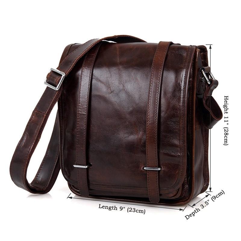 ซื้อ Nesituร้อนขายที่มีคุณภาพสูงแฟชั่นกาแฟเข้มจริงหนังผู้ชายของMessengerกระเป๋ากระเป๋าสะพาย# M7109