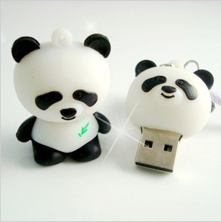 2.0 usd flash drive Cartoon panda model external storage memory card pen drives Stick 1GB 2GB 4GB 8GB 16GB 32GB(China (Mainland))