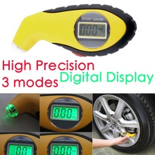New 5.0-100PSI LCD Digital Tire Tyre Air Pressure Gauge Tester Tool For Auto Car Motorcycle PSI, KPA, BAR(China (Mainland))