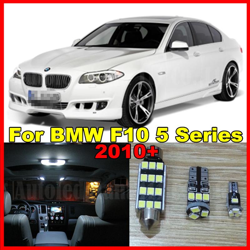 19x Pure White Dome Footwell Trunk LED Bulb BMW F10 5 Series 2010+ 550i 535i 528i M5 Car Interior Light Kit Canbus - EcoFri Led Factory store