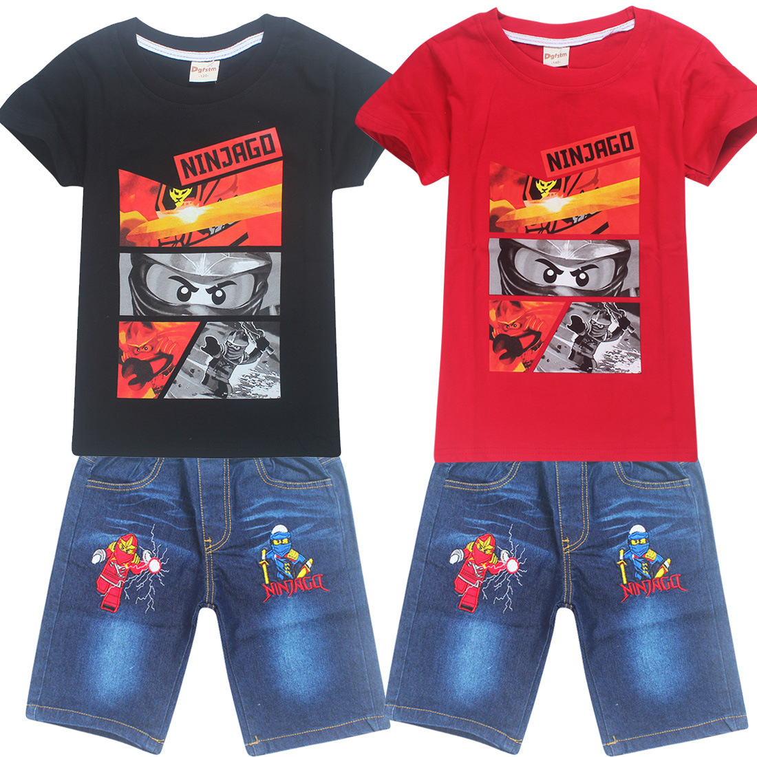 Boys Kids Lego Ninjago Batman Short Sleeve Pyjamas Set Pjs T-Shirt Shorts 3-10ys