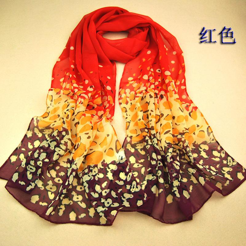 SW305 women's scarf leopard scarf print long shawl cape silk chiffon tippet muffler 2014 new design pashmina Leopard Scarves(China (Mainland))