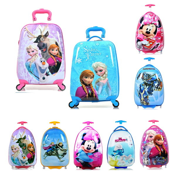 "Гаджет  16"" 18"" inch Cartoon Children Luggage Kid Suitcase,Child Boy Girl Princess Cat ABS trolley case box Traveller Pull Rod Trunk None Камера и Сумки"