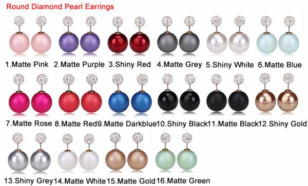 round diamond pearl earrings 4
