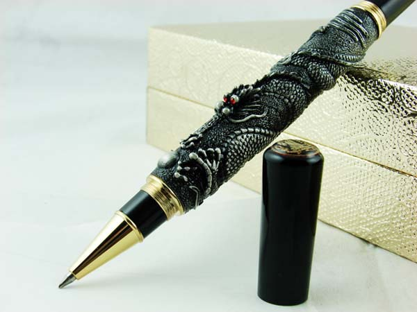 Free Shipping  Jinhao Ancient Dragon protects Precious Stone Roller Pen<br><br>Aliexpress