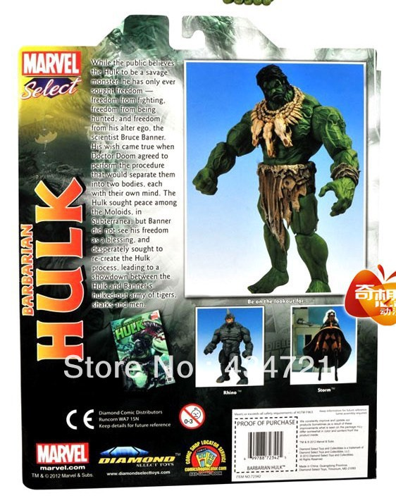 Free shipping Hot sale Marvel Super hero Incredible Savages Hulk PVC Action Figure 9<br><br>Aliexpress