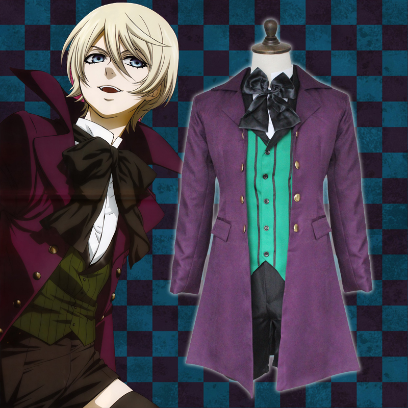 Hot Sale! Black Butler Alois Trancy Cosplay Costume Custom made Halloween Anime cosplay costume(China (Mainland))