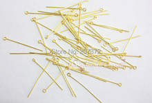 Free Shipping Fashion Jewelry Accessories 2000pcs/bag 30mm Gold/silver copper ball pins for jewelry making metal connector(China (Mainland))