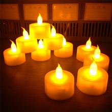 New Flickering 12 Flicker Light Flameless LED Tealight Tea Candles Wedding Light ZZS06(China (Mainland))