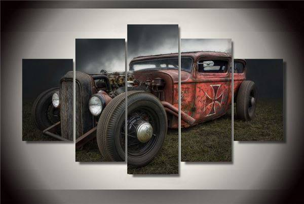 Framed Printed Vintage Cars Painting Children S Room Decor Print Poster Picture Canvas Free Shipping/Ny-2581(China (Mainland))