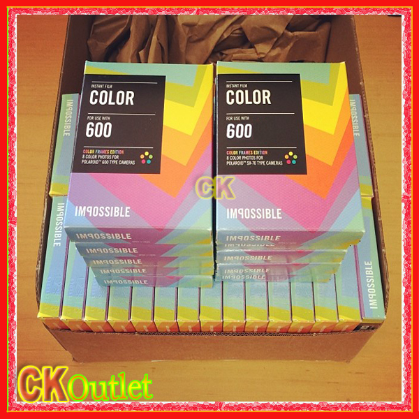 100% Original Impossible Project Color Film for Polaroid 600 Type Camera Instant Color Frames Edition with Free Gift(China (Mainland))