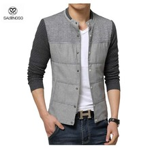 Plus Size Jacket Men Winter Slim Fit Jacket With Knitted Sleeve Chaqueta 5XL 4XL Casual Style Men's Outdoor Coat Sport Hip Hop