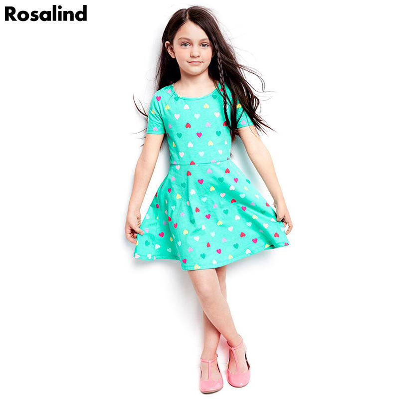 Name brand girls dress love pattern girls clothes short sleeve princess costume summer kids clothes cotton toddler girl dresses(China (Mainland))