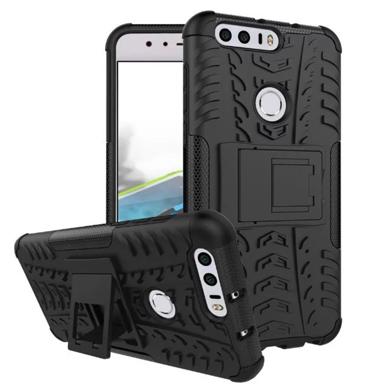 For Huawei Honor 8 Case Hard Plastic Silicon Quality Picks Mobile Phone Back Cover Cases Honor 8 Holder With Kickstand 5.2 inch(China (Mainland))