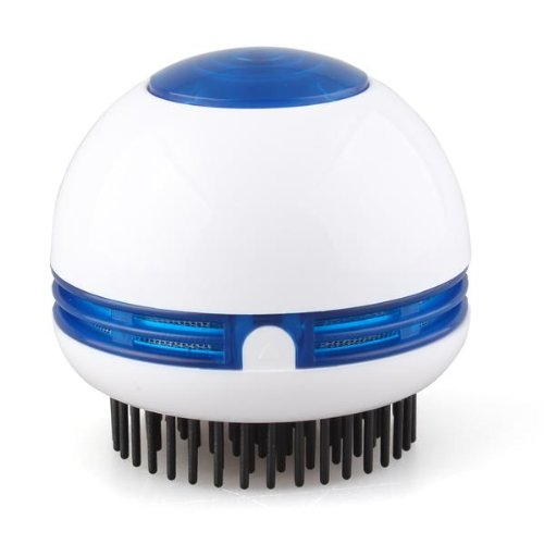 Electric Hair Scalp Head Massager Vibrating Comb Brush Round White(China (Mainland))