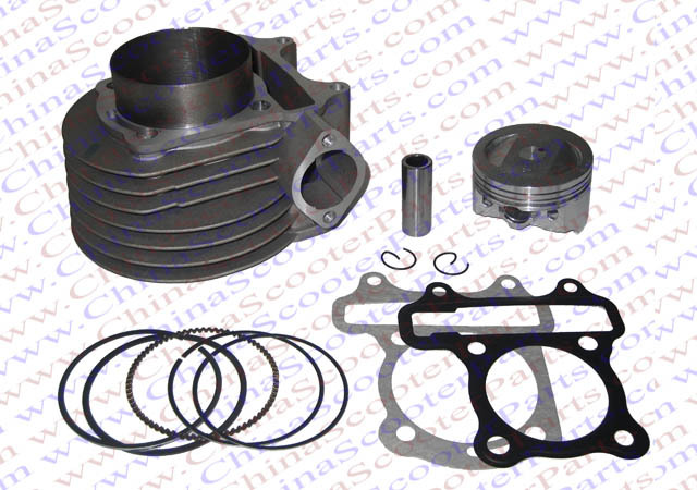 180cc 61mm font b GY6 b font Cylinder kit Big Bore High Performance 125cc 150cc Scooter