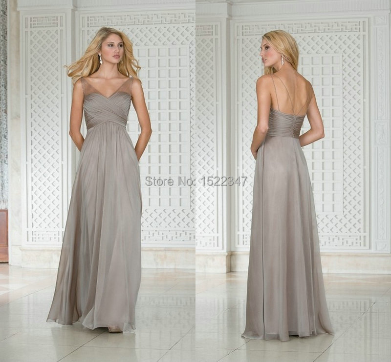 Free shipping grey wedding guest maternity long bridesmaid for Grey dress wedding guest
