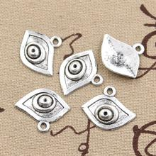 Buy 30pcs Charms evil eye 21*17mm Antique pendant fit,Vintage Tibetan Silver,DIY bracelet necklace for $2.11 in AliExpress store