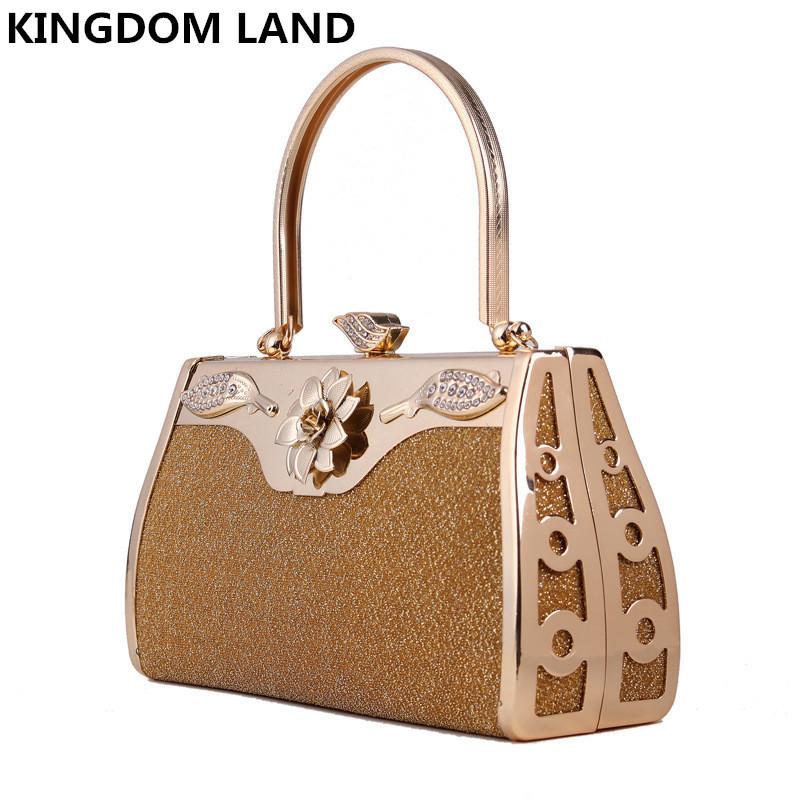 2015 Glitter derss day clutch women handbag gold metal tote bags party evening bags 51557(China (Mainland))