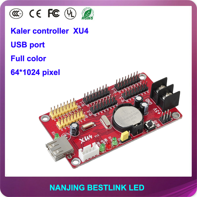 kaler XU4 seven color 64*1024 pixel USB port led controller card for outdoor led panel electronic led diy kit led display board(China (Mainland))