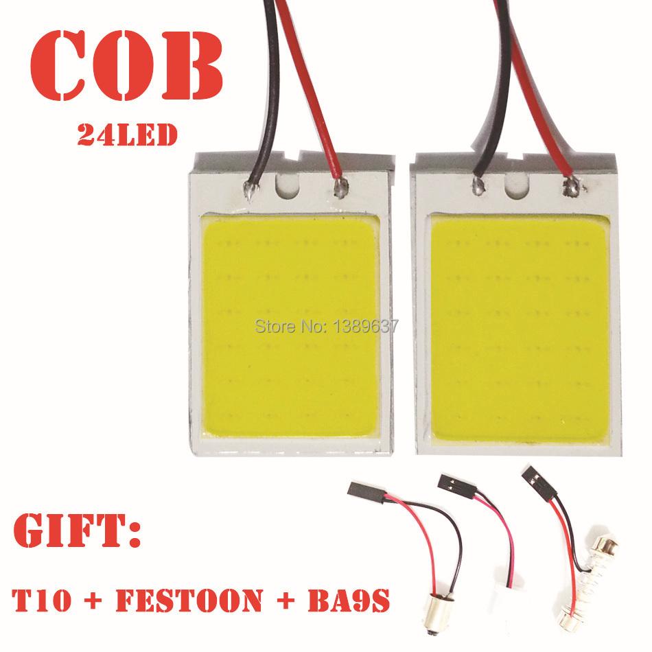 1pcs/lot free shipping 8W Aluminum T10 Dome Festoon parking Car Interior License Plate COB LED Lamps Light car styling(China (Mainland))