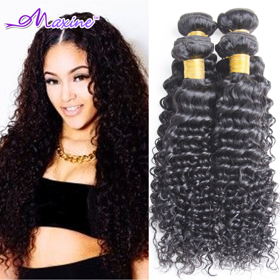 Indian Curly Virgin Hair Water Wave 4 Bundle Deals Unprocessed Raw Indian Virgin Hair Curly Weave Human Hair Extensions No Shed<br><br>Aliexpress