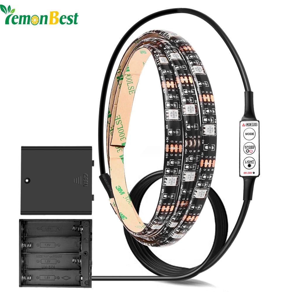 High Brightness Battery LED Strip Light RGB/Warm/Cool White SMD 5050 Waterproof IP65 String 4*AA Battery Operated 2m/1m/0.5m(China (Mainland))