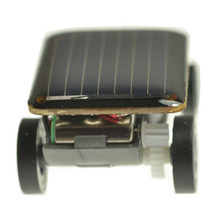 Wholesale 10PCS/LOT 2015 NEW ARRIVAL Lovely Mini Solar Power Toy Car Racer The World's Smallest Educational Gadget Children Gift(China (Mainland))