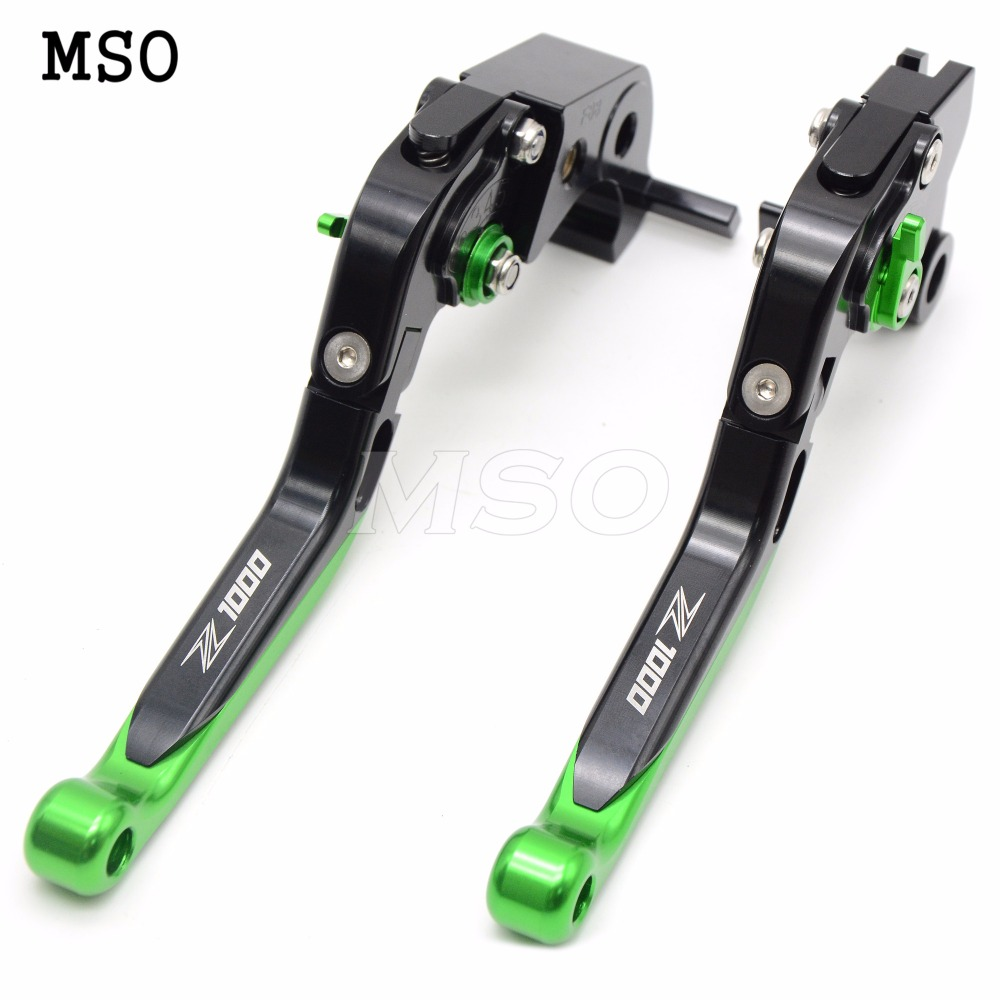 Фотография CNC Lengthening Adjustable Brake Clutch Levers with Z1000 logo For KAWASAKI Z1000 Z1000SX 2007 2008 2009 2010 2011 2012 - 2016