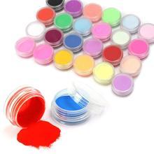 Más nueva moda 18 colores Nail Art Tips UV Gel del polvo del polvo diseño 3D manicura de la decoración # M01202(China (Mainland))