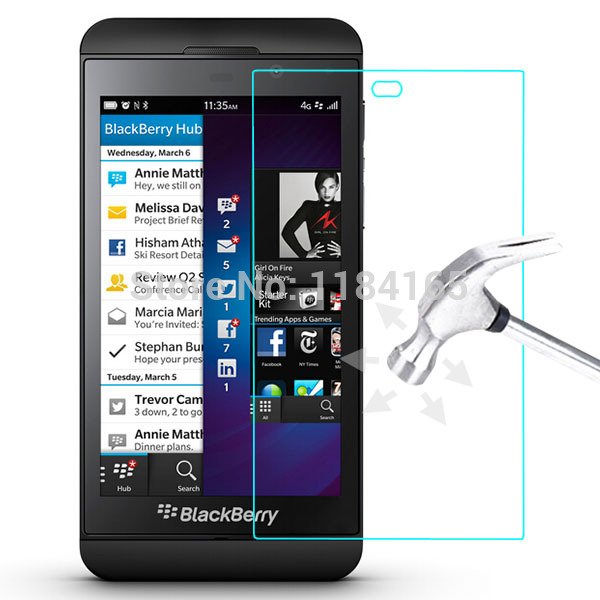 0.26mm Front LCD Explosion-proof Tempered Glass Film for BlackBerry Z10 High Clear Screen Protector pelicula de vidro(China (Mainland))