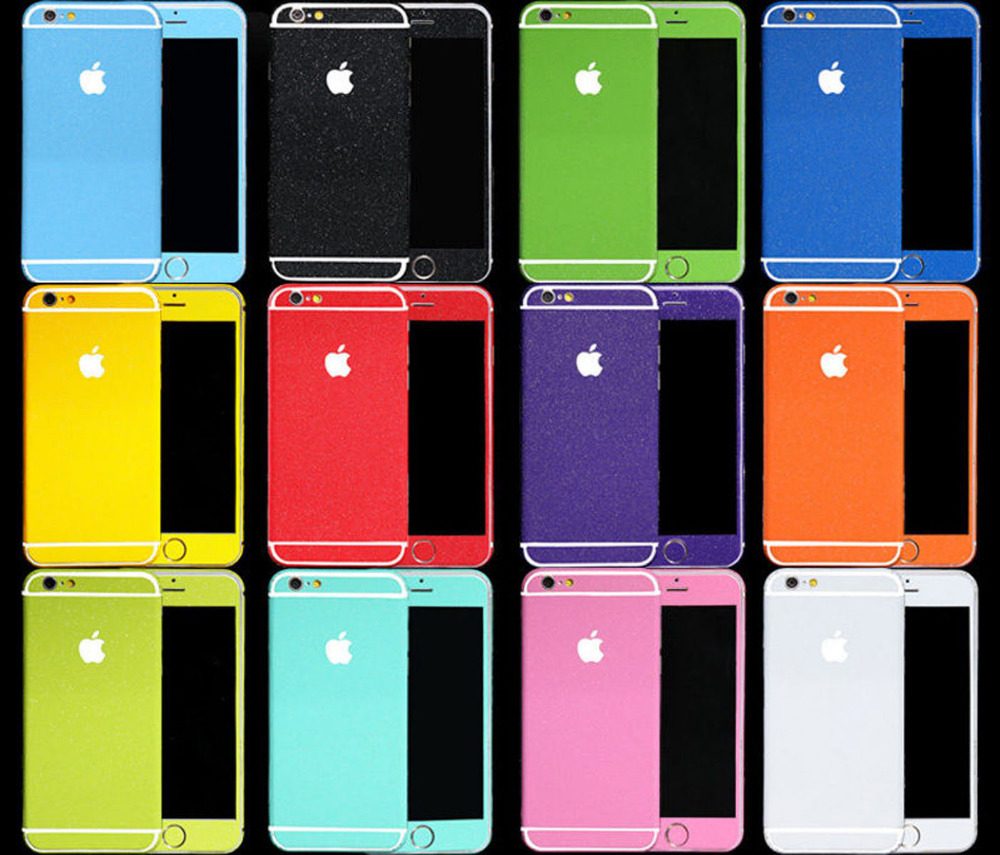 """Pure Color Full Body Decal Skin Sticker Wrap Case Cover For Apple iphone 6 5.5""""(China (Mainland))"""